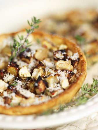 savoury: Chicken-eggplant savoury tartlet