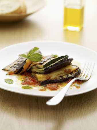 Eggplants with zucchinis and tomatoes Stock Photo - 15987724