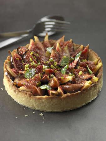 convivial: Fig,pistachio and fresh mint tart