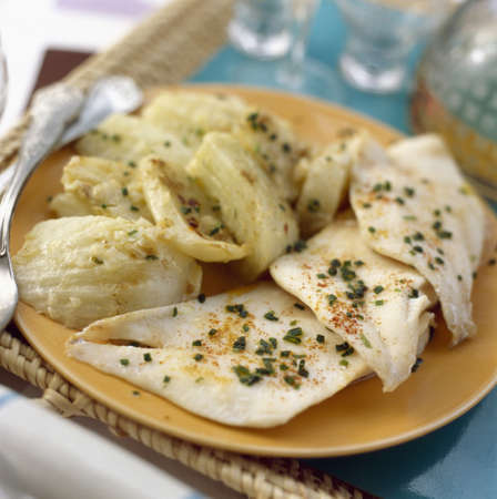 Fish fillets with fennel