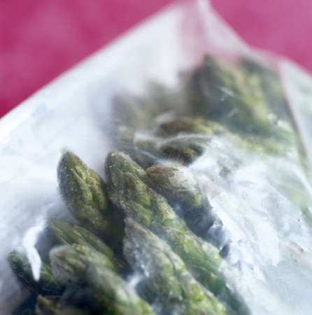 Frozen asparagus in a plastic bag Stock Photo - 17003915