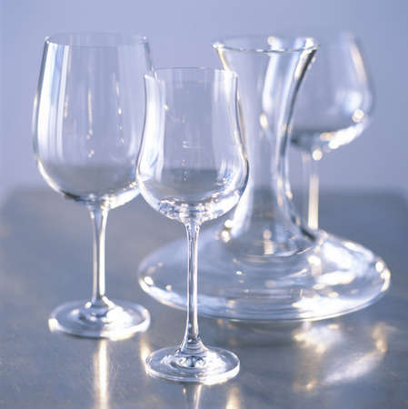 Decanter and glasses Stock Photo - 17003951