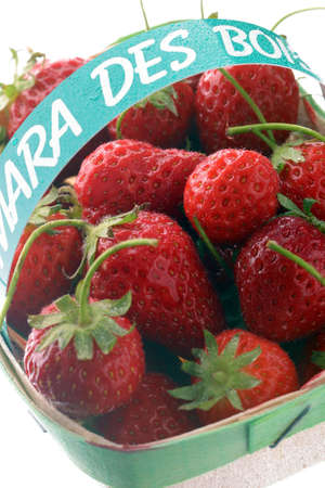 Punnet of Mara des bois strawberries Stock Photo - 17003994