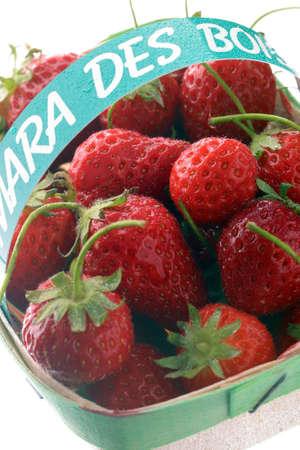 Punnet of Mara des bois strawberries