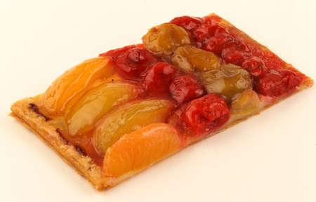 Slice of fruit tart Stock Photo - 17004244