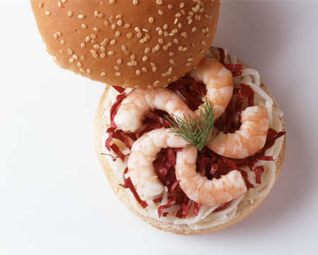 Shrimp and red cabbage burger Stock Photo - 17229102