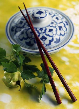 Thai bowl and chopsticks