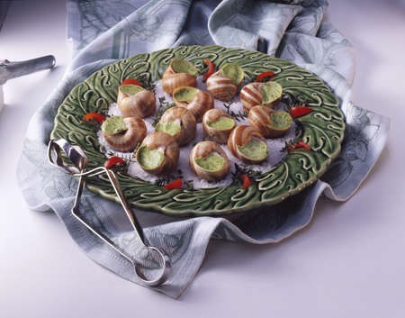 Snails with parsley and garlic stuffing Stock Photo - 17229120