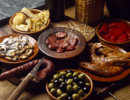 Assorted tapas Stock Photo - 17229119