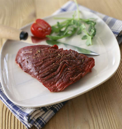 flank: Raw flank steak fillet