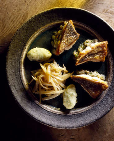 pikeperch: Pike-perch with chicory and mashed potatoes