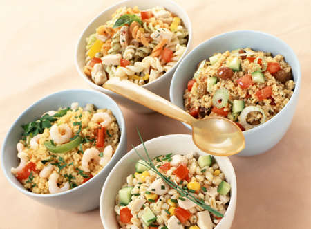 carbohydrates: Assorted salads with carbohydrates LANG_EVOIMAGES
