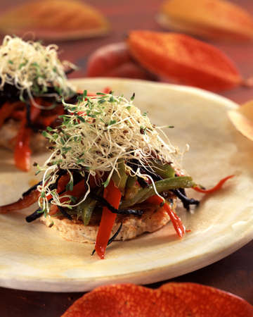 friture: Wheat flake escalope with sauteed peppers LANG_EVOIMAGES