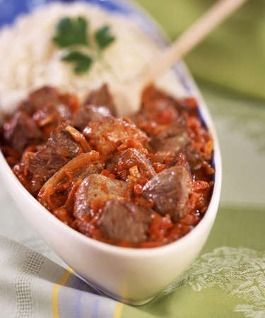Lamb saut� with curry Stock Photo - 17026222