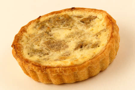 calorific: Cheese and mushroom quiche