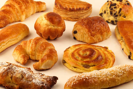 Selection of milkbread pastries