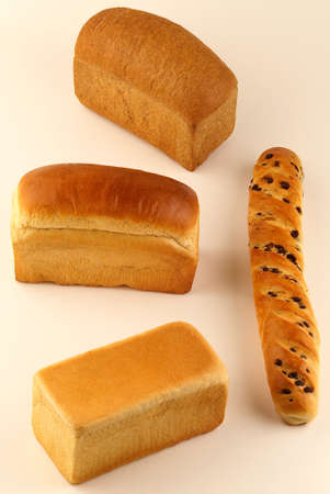 Assorted sandwich bread loaves and a chocolate chip milkbread Stock Photo - 17026274