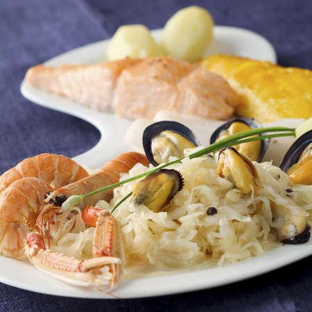 Seafood Sauerkraut Stock Photo - 17026382