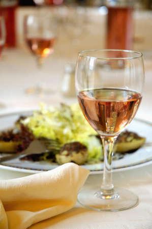 Glass of rosé wine Stock Photo - 17026731