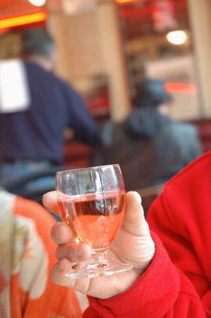 Tasting ros� wine Stock Photo - 17026733