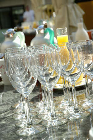 Empty stem glasses Stock Photo - 17026736