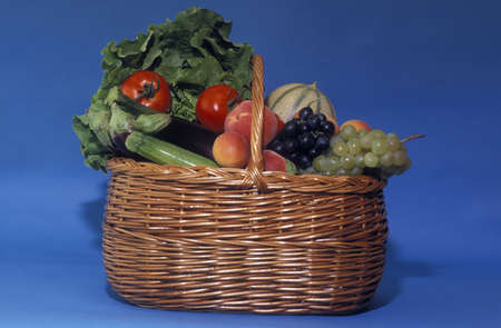 Basket of fruit and vegetables Stock Photo - 17027013