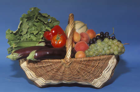 Basket of fruit and vegetables Stock Photo - 17027014