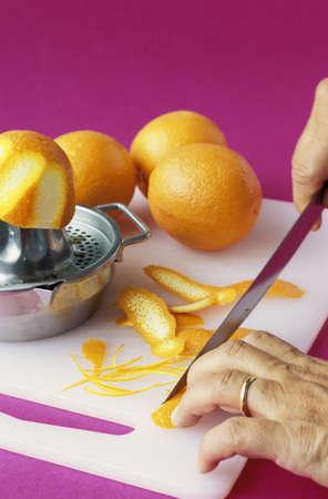 Making orange zests Stock Photo - 17027034