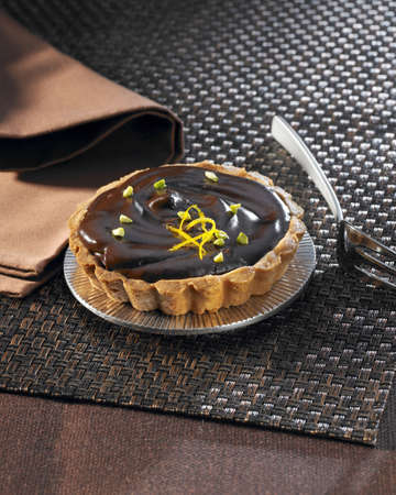 Chocolate and postachio tartlet LANG_EVOIMAGES