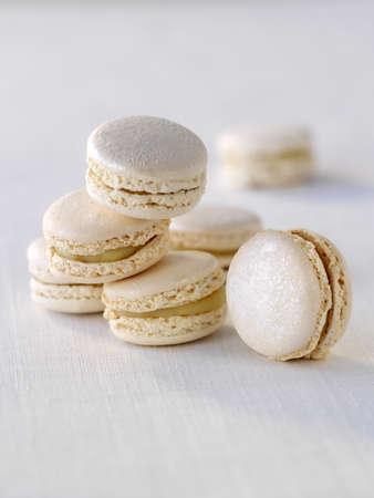 truffe blanche: Blanc macarons truffe