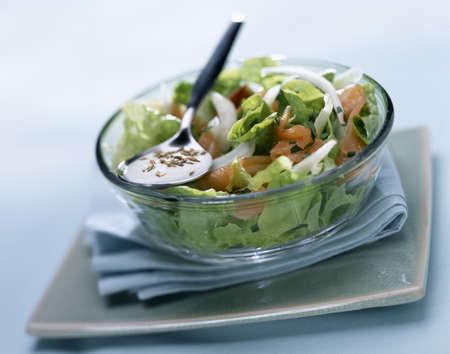 Smoked salmon salad Stock Photo - 17027678