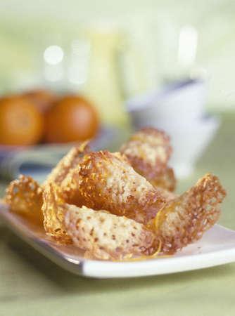 zest: Orange zest tuiles