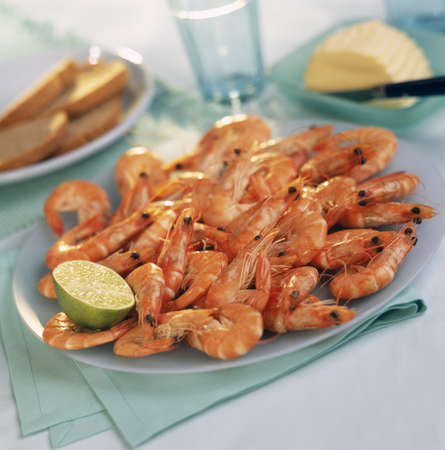convivial: Plate of shrimps