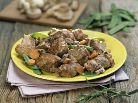 Sauteed lamb with vegetables Stock Photo - 17027780