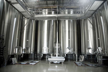 vats: Stainless steel vats for wine