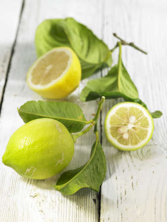winter leaf: Unripe lemons