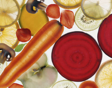 thinly: Thinly sliced transparent vegetables