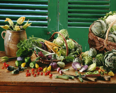 Baskets of vegetables Stock Photo - 17028879