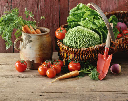 Basket of vegetables Stock Photo - 17028896