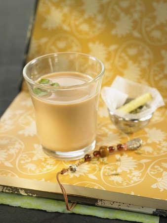 assam tea: Assam tea with herbs and black pepper
