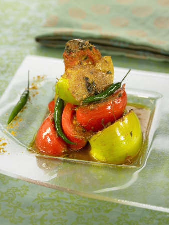 Spicy tomatoes with cumin and Trigonella seeds Stock Photo - 17029075