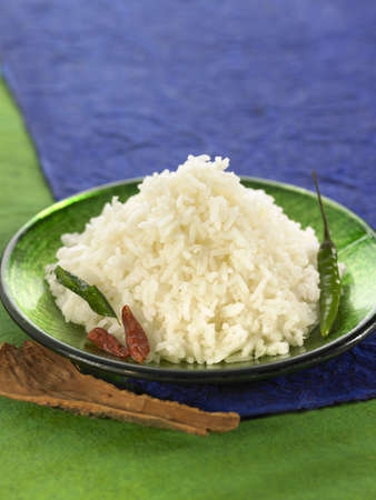 Basmati rice with chili peppers Stock Photo - 17029082