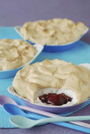 stewed: Stewed plum meringue pie