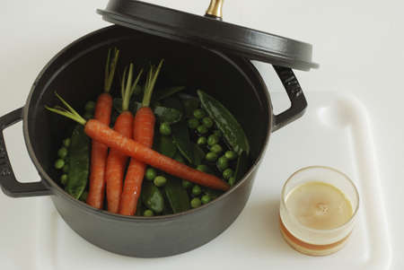 Cooking the vegetables in a casserole dish Stock Photo - 17029152