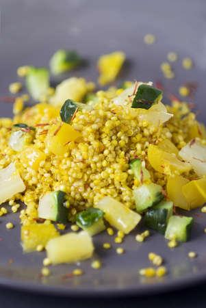 food: Quinoa,pineapple and zucchini salad