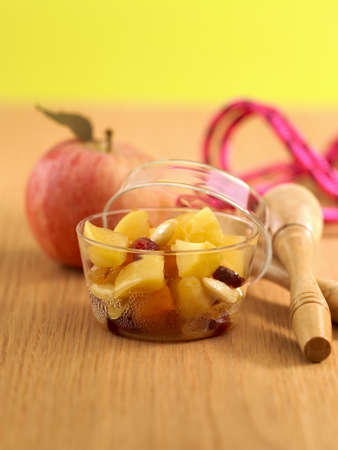 stewed: Stewed apples with dried fruit