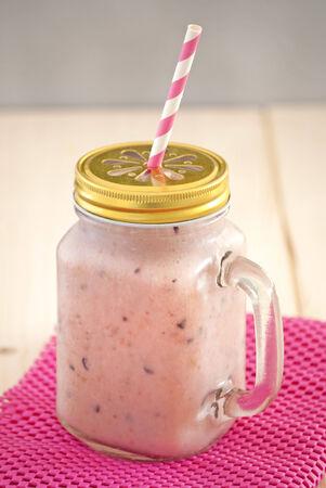 roze: gezonde smoothie