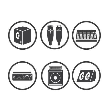 sound card: icon music Illustration