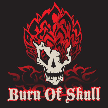 burn: burn of skull