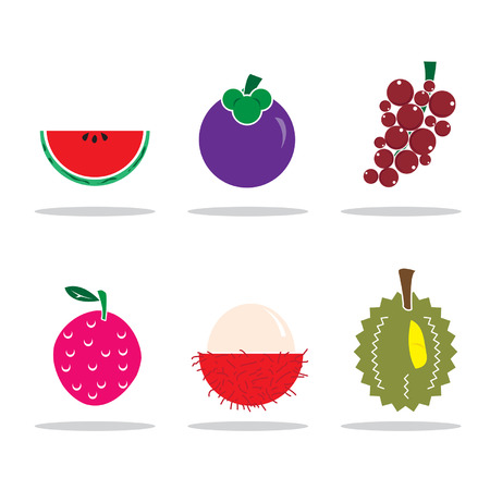 rambutan: icon fruits